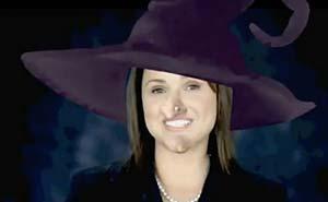 En remix på Christine O'Donells reklamfilm. Bild från video