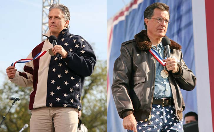 Jon Stewart och Stephen Colbert i Washington DC. Montage (foto: Cliff/flickr)