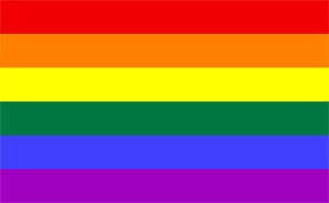 The rainbow flag.