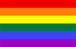 The rainbow flag.