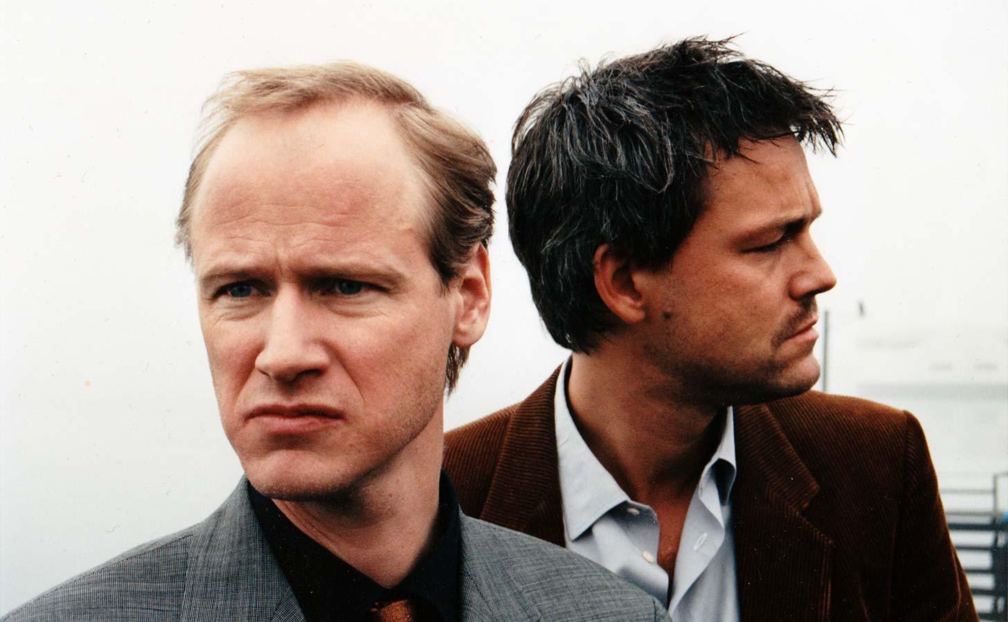 Robert Gustafsson och Henrik Schyffert från Killinggänget på tiden det begav sig… Foto: E Guwallius/Media.nu (© 1999)